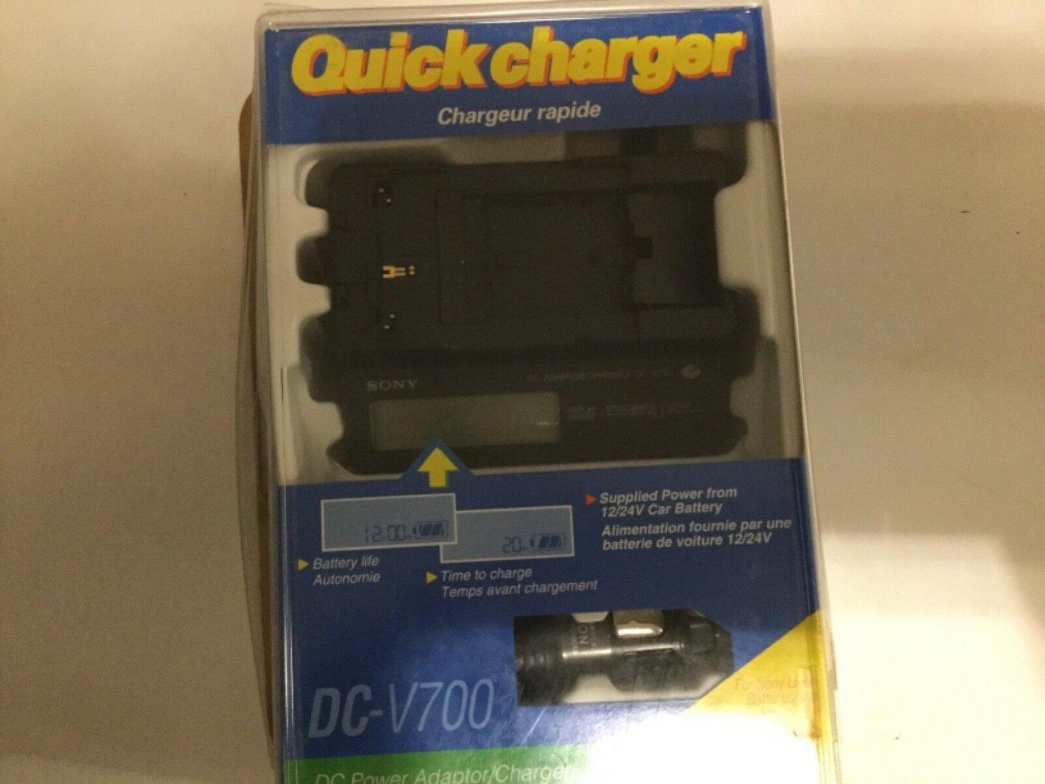 Quick Charger DC Power Adaptor For Sony Li-ion & Handycam SONY DC-V700 new