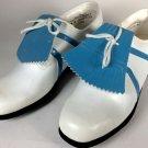Vintage Austad Golf Shoes Size 8.5 White light blue  Never worn size  M Women's