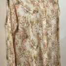 NWT Woman's Jaclyn Smith top blouse cutout at shoulders animal print top 1x 2x