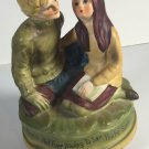 1971 CHADWICK MILLER Love Story Musical Music Box Rotating Japan Vintage