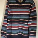 Tommy Hilfiger Crewneck Multi Color Size XL XG Sweater Lambswool blue red white