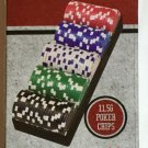 NEW Sealed Set Of 100 Poker Chips11.5g Las Vegas Style with Tray Cardinal Ind.