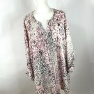 Maggie Barnes Pink Violet Shirt Plus Sz 4X Blouse Tank Top Paisley 30 32 Pleats