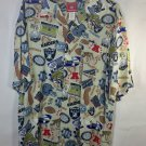 NFL Oakland Raiders West Division AFC Aloha Hawaiian Shirt Football  Size Large