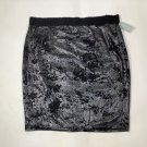 NWT Women's Forever 21 Skirt Black Metallic size 3X Knee Length Knitted Lined