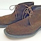 Kenneth Cole New York Shoes 44  US 10 Suede Leather Chukka Boots Brown Italy Men