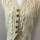 Vintage Thompson Vest 80's Cream Cable Knit Norm Sweater top Shirt XL USA