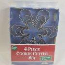 NIP Wilton Nesting Snowflake Cookie Cutter Set Metal Cutters 4 Piece Set NEW