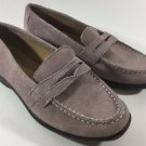 Women's Lands End Shoes Size 5.5 Lilac Suede Purple Leather Slip-On Loafers
