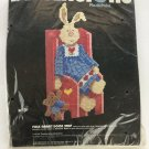 Vintage Rabbit Doorstop  Dimensions Needle Point Kit Barbara Mock Folk Plastic