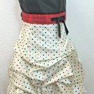 Vintage Jessica McClintock Gunne Sax Pinup size 3 Polka Dot Satin balloon Dress