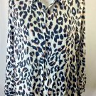 NWT Order Plus Leopard Print buttoned shirt size L Woman's new