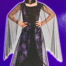 NEW Wicked Bat Girl Child Vampire Witch Halloween Costume size 12-14 Large