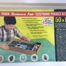 Vintage Radio Shack Science Fair Electronic Project Kit 50 in 1 201 Parts as is