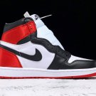 Air Jordan AJ1 Satin Women Black Toe