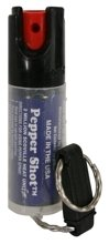 PS-2 : PEPPER SHOT PEPPER SPRAY/1/2 oz. w/Quick Key Release Keychain