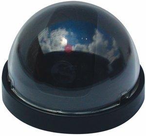 Dome Dummy Camera w/ Flashing LED--DM-DOML