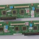 Pair of Original Samsung PS50Q7H S50HW-YB0 Buffer Board LJ41-03882A LJ41-03883A