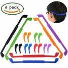 6 PCS Soft Elastic Eyeglasses Strap For Kids & Adults Silicone Anti-Slip Sports