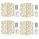 Gdealer 4 Pack 16.4 Feet 50 Led Fairy Lights Battery Operated With Remote Contro