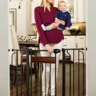Regalo Home Accents Extra Wide Walk Thru Baby Gate, Includes Décor Hardwood, 4-
