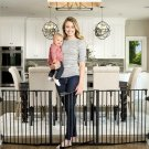 Regalo Deluxe Home Décor 74-Inch Super Wide Metal Configurable Baby Gate, Inclu