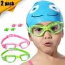 Eversport Kids Swim Goggles, Pack Of 2 Kids Swimming Goggles, Crystal Clear Swim