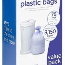 Ubbi Disposable Diaper Pail Plastic Bags, Made With Recyclable Material, True Va