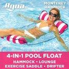 Aqua Monterey 4-In-1 Multi-Purpose Inflatable Hammock (Saddle,Lounge Chair, Hamm