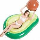 Jasonwell Inflatable Avocado Pool Float Floatie With Ball Water Fun Large Blow U