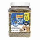 Friskies Party Mix Adult Cat Treats Canisters – Real Ocean Whitefish #1 Ingred