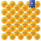 Kevenz 60-Pack 3-Star 40+ Table Tennis Balls,Advanced Ping Pong Ball (Orange Whi