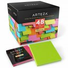 Arteza 3X3 Inches Sticky Notes, 48 Pads, 100 Sheets Per Pad, Bulk Pack, Assorted