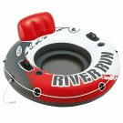 """Intex Red River Run 1 Fire Edition Sport Lounge, Inflatable Water Float, 53"""" Dia"""