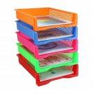 Zilpoo 5 Tier - Plastic Desk Letter Organizer Tray, Stackable Office Desktop Doc