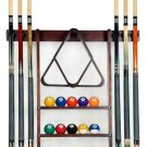 Cue Rack Only - 6 Pool Cue - Billiard Stick Wall Rack Made Of Wood Choose  Mahog