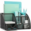 Mindspace Office Desk Organizer With 6 Compartments + Drawer | The Mesh Collecti