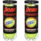 Penn Championship Tennis Balls - Extra Duty Felt Pressurized Tennis Balls - (2 C