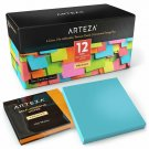 Arteza 3X3 Inches Sticky Notes, 12 Pads, 100 Sheets Per Pad, Bulk Pack, Assorted