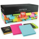 Arteza 3X3 Inches Sticky Notes, 96 Pads, 100 Sheets Per Pad, Bulk Pack, Assorted
