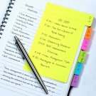 Redi-Tag Divider Sticky Notes, Tabbed Self-Stick Lined Note Pad, 60 Ruled Notes,
