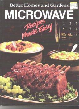 Bhg Better Homes Garden Microwave Recipes Made Easy Cook Book Hardcopy Color Illust 0696008459