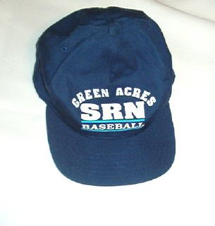 Green Acres srn Navy Baseball Cap Hat Unisex New