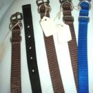 22 inch Dog Collar Made by England - Color: Brown Brand New Woven Nylon
