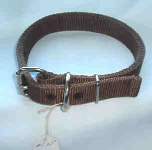 23 inch New Dog Collar Thick Nylon Color Brown Fits Neck 13-17 inch
