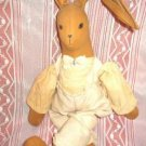 Large Stuffed Toy Cloth Rabbit Rare and Very Old - Handcrafted?