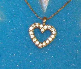 Avon Rhinestone Heart Shape Design 18 inch Necklace