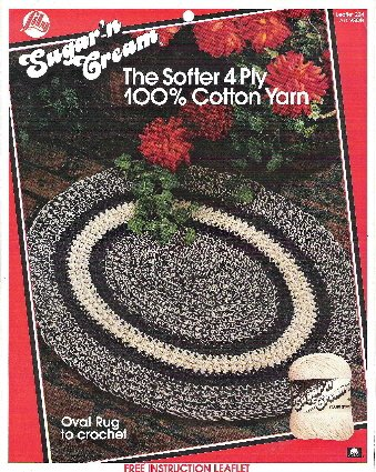 Oval Rug, Place Mat, and Runner to Crochet - Lily Sugar n Cream Number 224