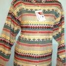 New w Tag Citi Craze Long Sleeve Tailored Shirt Southwest Design Ladies Sz Medium
