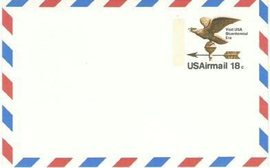 Usps 18 cent Airmail Prestamped Postcard ~ Unused and Clean